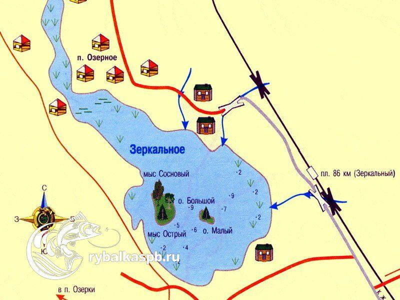 карта рыбалка спб
