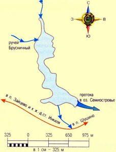Озеро Видное карта глубин и подъездов